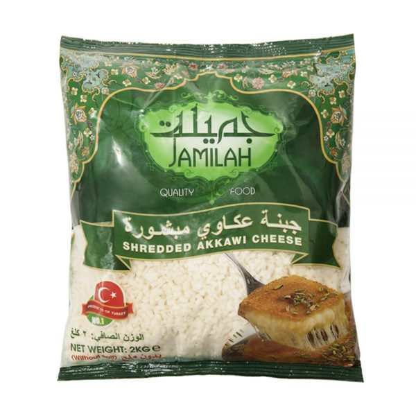 shredded akkawi cheese without salted front